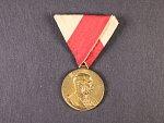 Civilní jubilejní pam. medaile z r.1898, původní stuha