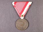 Bronzová medaile za statečnost, novodobá vojenská stuha, vydání 1914 - 1917