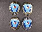 Sada 4 odznaků výsadkového vojska od r. 1993, I. II. III. tř. a beztřídní