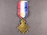 Hvězda 1914 - 15 na jméno PTE. D. MACKENZIE