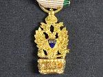 Miniatura Řádu železné koruny, vydání 1825-1840/45, zlato, nepuncováno, 19x10 mm