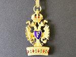 Řád železné koruny 3. třídy, pozlacený bronz, neznačeno, původní etue