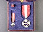 Řád Italské koruny, Rytíř + miniatura, pozlacený bronz, smalty, originální etue