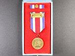 Medaile - Za obětavou práci pro socialismus + etue