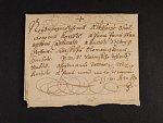 skl. šlechtický dopis malého formátu se zdvořilostní adresou z r. 1632, velmi dobrá kvalita