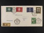 R-dopis frank. zn. Mi. č. 874, 943-5, 950 s raz. SALZBURG FESTSPILLE 1950