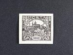 ZT zn. č. 26 v černé barvě na papíře s lepem, jemné zvrásnění papíru, zk. Karásek