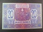 20 K 1919 poukázka království českého, nevydaná, oboustranná