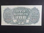 100 K 1944 série HK, číslovač 8, Ba. 59b, bezvadná kvalita