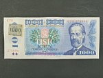 1000 Kč 1985 s. C 73, kolek lepený, Baj. CZ 3a, Pi. 3
