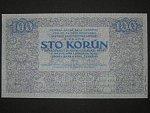 100 K 1919 poukázka království českého, nevydaná, jednostranná