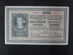 200 K 27.10.1918, serie A 2050, s potiskem na R