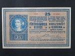 25 K 27.10.1918 série 1104, číslice 1 v sérii s patkou