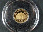 20 Vatu 2009 - Pantheon in Roma,  Au 0,999, 0,5g, náklad 10.000 ks, průměr 11 mm, KM 60, certifikát