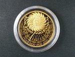 1999, Česká mincovna, zlatá medaile k uvítání roku 2000, Au 0,999,9, 7,78g, náklad 300 ks, certifikát
