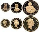 kompletní sada 100, 250, 500 $ 1991 Krištof Kolumbus, Au 0,500, 4,11 + 8,04 +19,81g, velmi nízký náklad
