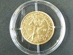 2008, Česká mincovna, zlatá medaile Dukát Matyáše II., Au 0,986, 3,49g, náklad 500 ks, etue, certifikát