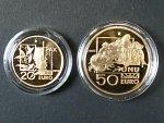 20 + 50 Euro 2005 International Day of Peace,. Au 0,900, 6,45g + 16,13g, 3914ks
