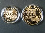 20 + 50 Euro 2005 International Day of Peace,. Au 0,900, 6,45g + 16,13g, 3914ks
