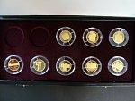 sada 8ks pamětních mincí 2000 Kč Deset století architektury ve společné etui, mimo dvou prvních mincí, certifikáty, bezvadný stav, PROOF