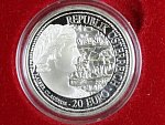 20 Euro 2010, Virunum, Ag 0.900, 20g, etue a certifikát_
