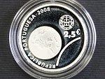 2,5 Euro 2008, 12g 0.925 Ag, etue, certifikát_