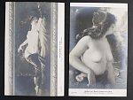 Akty - dvě jednobar. francouzské pohlednice Salon de L Ecole Francaise resp. Salon d Hiver 1909, nepoužité, lux. kvalita
