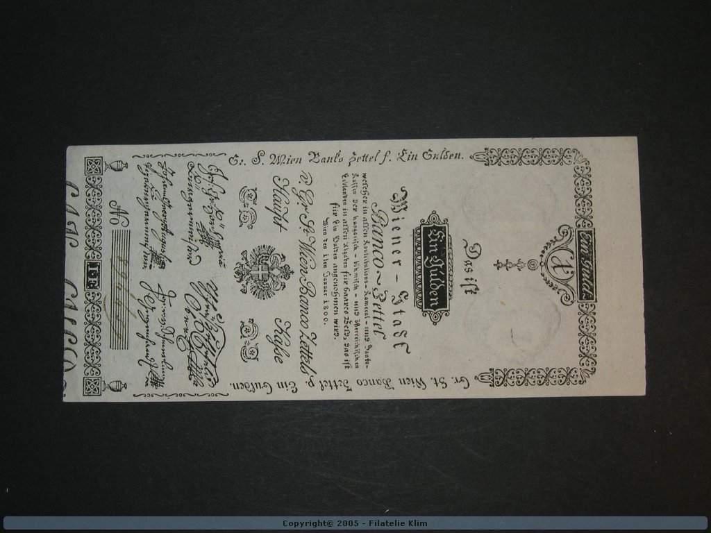 1 Gulden 1.1.1800, Pi. A29, Pi.-Ri. 29