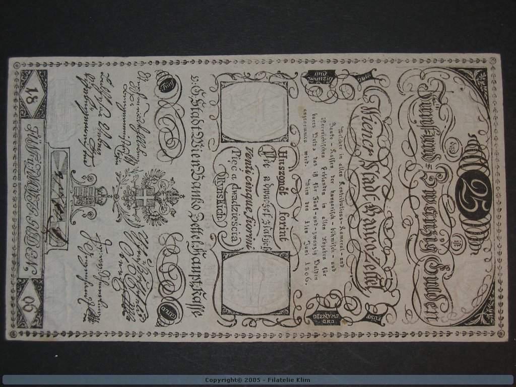 25 Gulden 1.6.1806, Pi. A40, Pi.-Ri. 40, vyjímečná kvalita