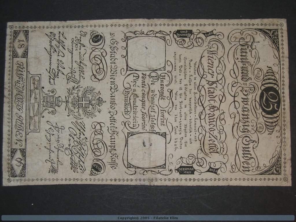 25 Gulden 1.6.1806, Pi. A40, Pi.-Ri. 40