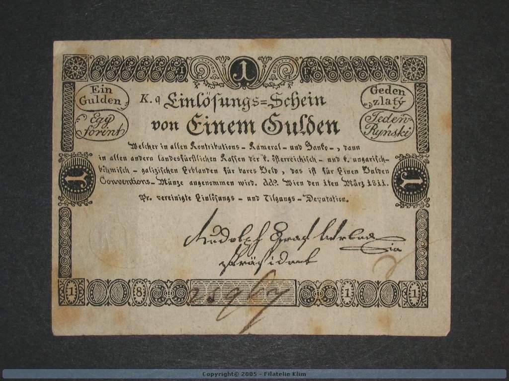 1 Gulden 1.3.1811, Pi. A44, Pi.-Ri. 44