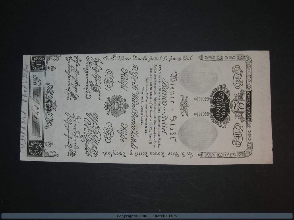 2 Gulden 1.1.1800, Pi. A30, Pi.-Ri. 30