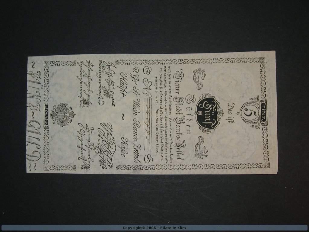 5 Gulden 1.1.1800, Pi. A31, Pi.-Ri. 31