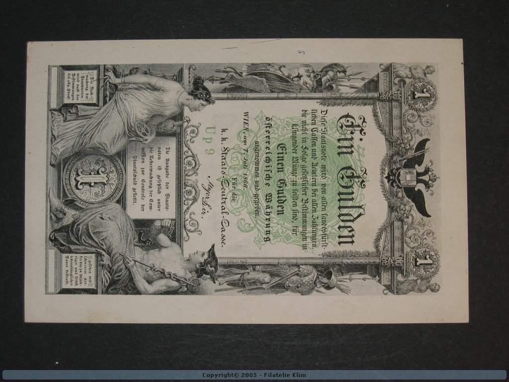1 Gulden 7.7.1866 série Up9, Pi. A150, Pi.-Ri. 150