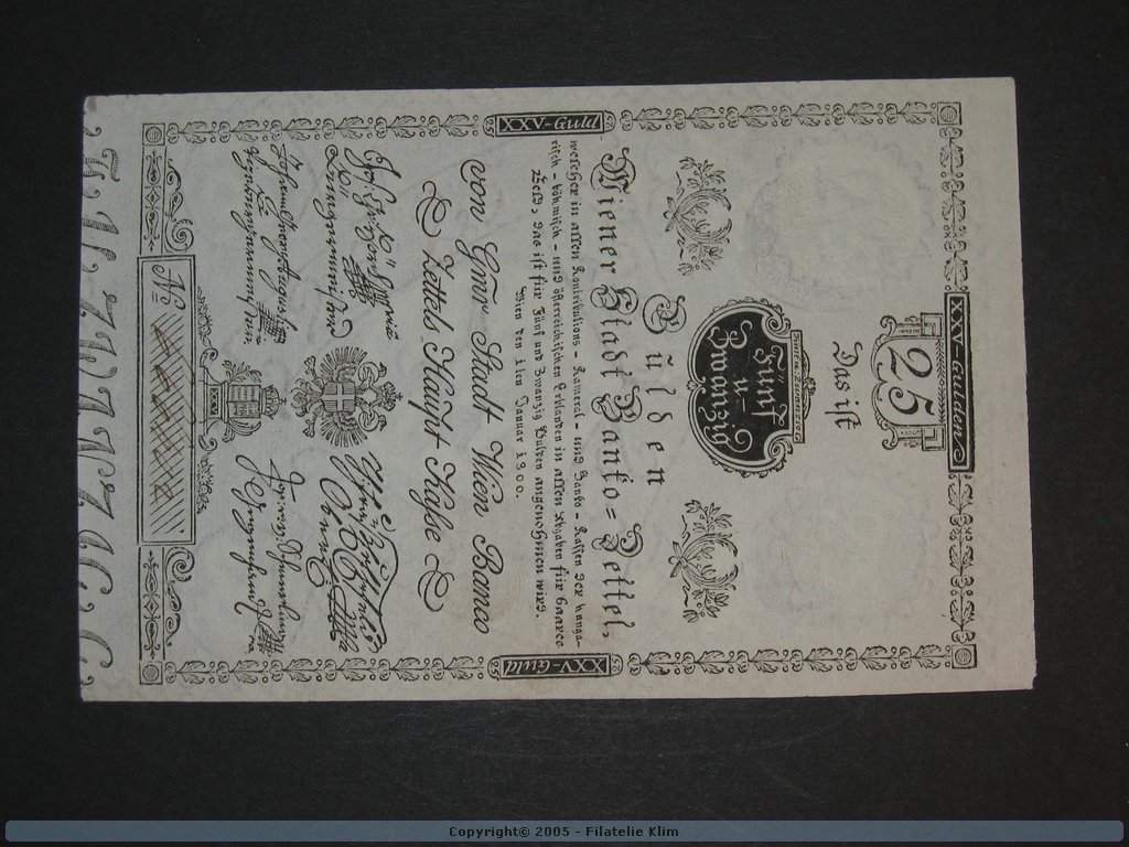 25 Gulden 1.1.1800, Pi. A33, Pi.-Ri. 33