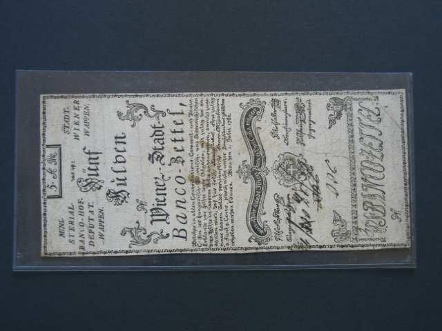 5 Gulden 1.7.1762 formulář, Pi.-Ri. 3F, Pi. A3