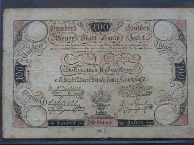 100 Gulden 1.6.1806, Pi.-Ri. 42, Pi. A42, mimořádná kvalita