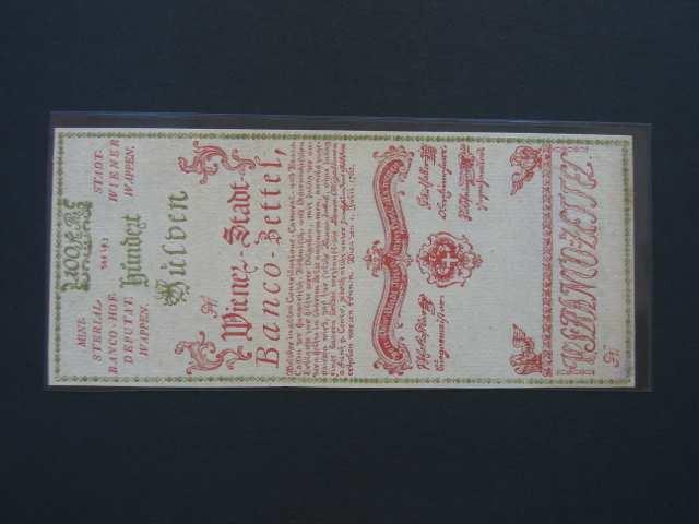 100 Gulden 1.7.1762 formulář, Pi.-Ri. 7F, Pi. A7, podlepený spodní okraj jinak N