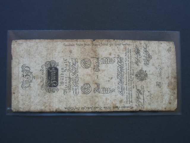5 Gulden 1.8.1796, Pi.-Ri. 22, Pi. A22, vzácný