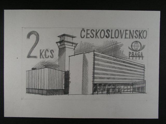 Orig Kresba Tuzkou Zn C 2331 Format A4 Filatelie Klim