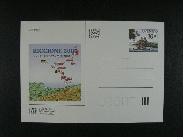 celina Riccione 2007 s p?evrácenou pr?svitkou, nepoužitá