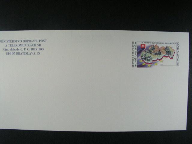 služební obálka Ministerstva dopravy a pošt 2008, nepoužitá