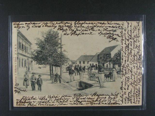 Brno Líše? - jednobar. litografie, dl. adresa, použitá 1900