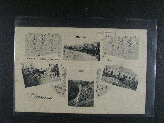 Doubravi?ky - jednobar. okénková koláž , použitá 1918