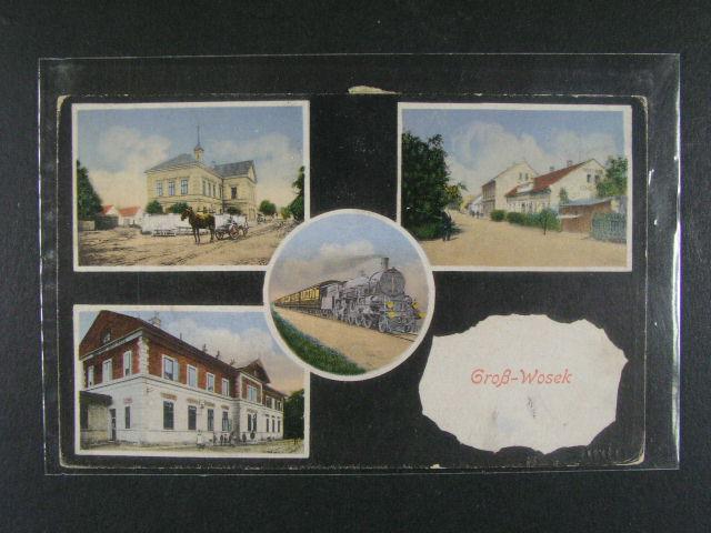 Gross Wosek - bar. okénková pohlednice použitá 1916, dobrá kvalita
