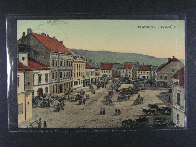 Ivan?ice - bar. pohlednice  použitá 1912