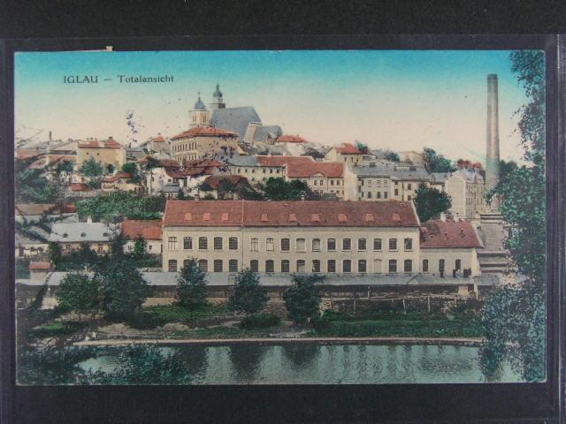 Jihlava - Iglau - Totalansicht - bar. pohlednice, použitá 1918, dobrá kvalita