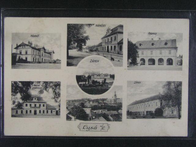 Lysá nad Labem - jednobar. okénková pohlednice, použitá, dobrá kvalita