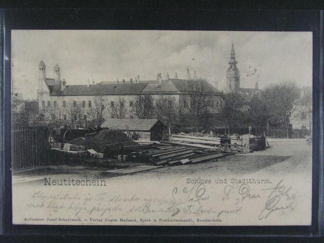 Nový Ji?ín - jednobar. litograf., dl. adresa, dobrá kvalita, použitá 1904