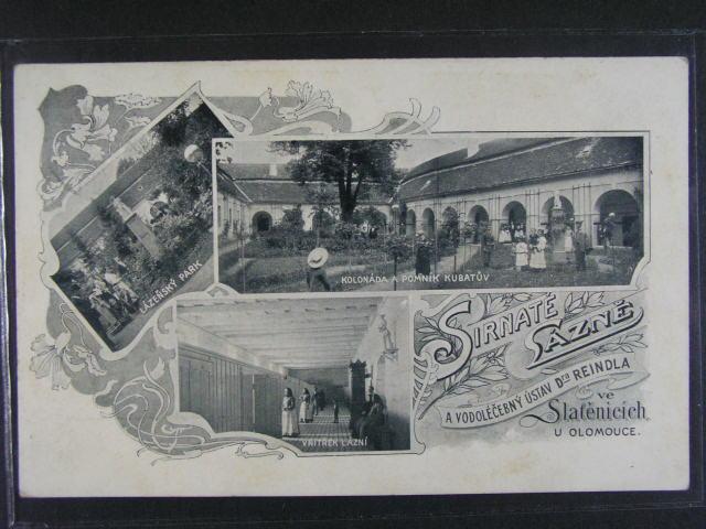 Slat?nice - jednobar. okénková koláž, použitá 1908
